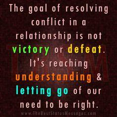 Goal of Resolving conflict 7071ea0a45b3d35dfc43cfced678e186